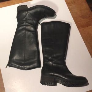 VINTAGE UGG AUSTRALIA KNEE-HIGH REAL LEATHER BOOTS